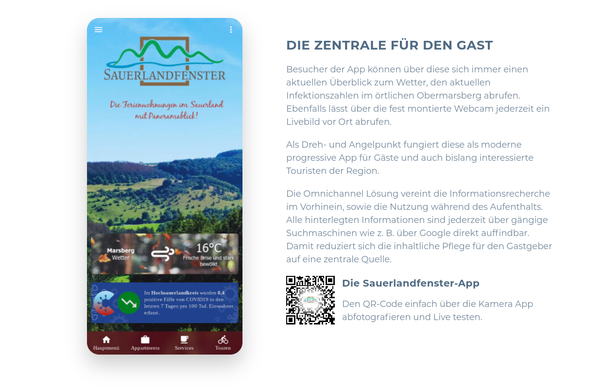 Local tourism rethought - The Sauerlandfenster App